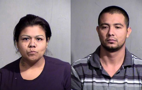 Frances Salas and Jesus Millan-Rodriguez are charged with kidnapping and drug possession related to a Honduran boy being held in a Phoenix apartment.